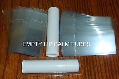 100 clear SHRINK WRAP BANDS for lip balm (Chapstick) tubes - safety seals