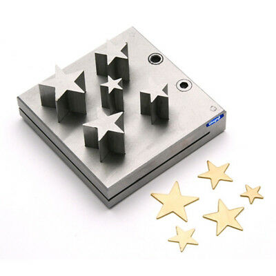 Disc Cutter Star Shape Set Of 5 Pcs Gold Silver Metal Jewelry Tool