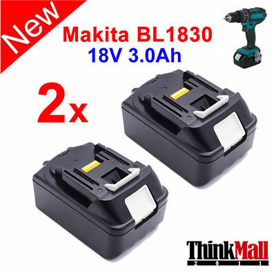 2 X New 18V 3.0Ah Lithium Ion Battery For Makita Bl1830 Lxt Us Latest Pack