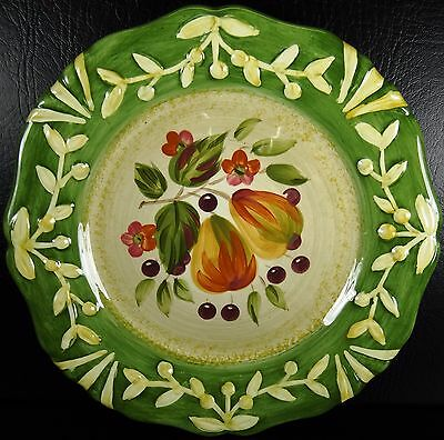 Certified International La Toscana Salad Plate Pears Cherries Pamela Gladding