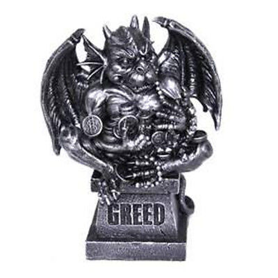 Gothic Gargoyle Statue 7 Deadly Sins - GREED Statue Ornament Figurine 21cm