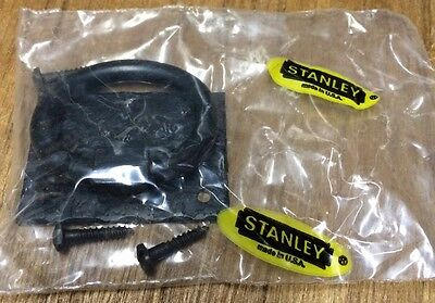 NOS STANLEY STEEL Black Rustic Ring Pulls-Made in the USA