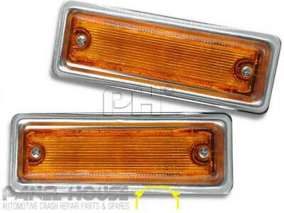 Nissan Datsun 1200 Ute 78-85 New CHROME Side Guard Flasher Indicator Light x2