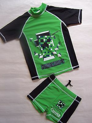 Brand New Boys Computer Video Game Swimming Costumes Set Swimmers - Size 5-10