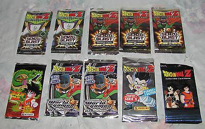 Mixed Lot of 10 DragonBall Z Trading Card game Booster Packs sealed New Panini +