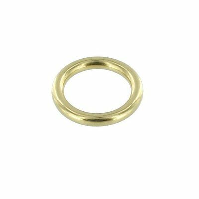 "Brass O-Rings 3/8"" ID x 3.3mm (Solid Brass, No Seams) 50 Pieces"