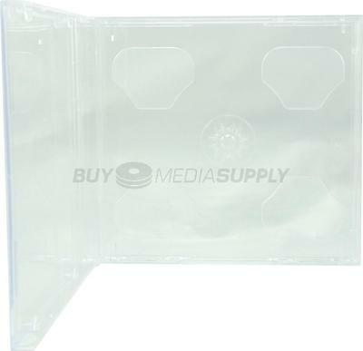 10.4mm Standard Clear Double 2 Discs CD Jewel Case - 50 Pack