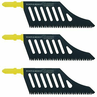 3x Sabrecut Flush Cutting Jigsaw Blade For Dewalt DT2074 Wood T Shank HCS