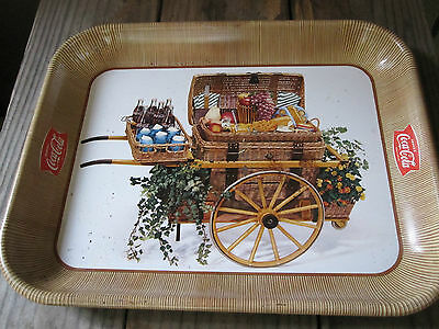 Early 1900's Coca Cola Advertising Tray Spectacular And Bright Litho