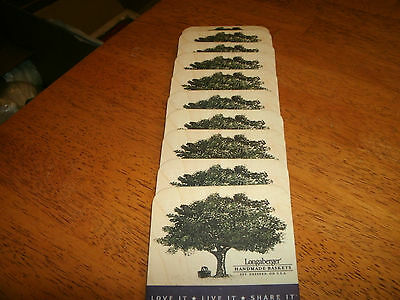 Lot Of 10 Longaberger Cork Back Coasters In Very Good Condition
