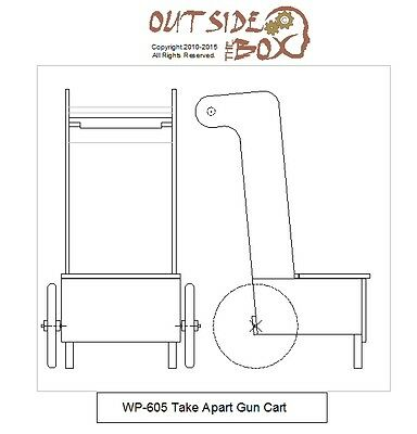 Take-Apart Gun Cart Pattern For Cowboy Action Shooters by OTB Patterns.