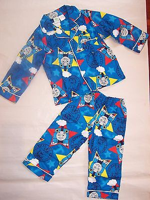 Bnwt Thomas The Tank Engine Flannel Cotton Pyjamas Sleepwear- Size 1 To 4