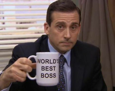 World's Best Boss Coffee Mug as seen in The Office - birthday gift present