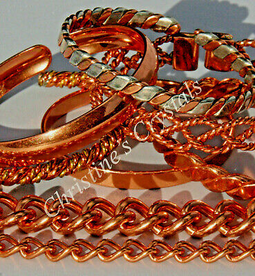 Magnetic and Non Magnetic Solid Copper Bracelets Pain Relief Arthritis Healing