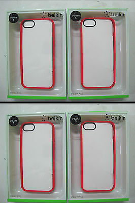 100 x QUALITY BELKIN Ruby/Clear View Case iPhone 5 & iPhone 5s F8W153qeC05 [F07]