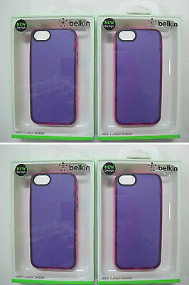 100 x QUALITY BELKIN Grip Candy Sheer Case iPhone 5 iPhone 5s F8W138qeC06 [07]