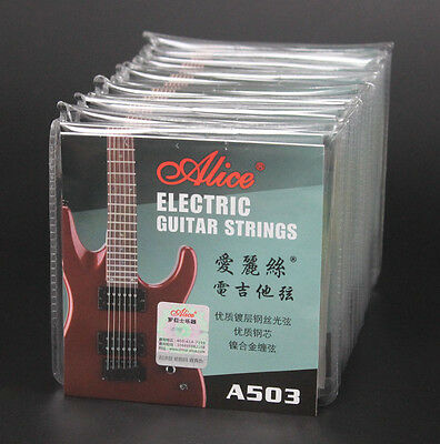 10 Sets A503 Light (.010-.046) Steel Nickel Alloy Wound Electric Guitar Strings