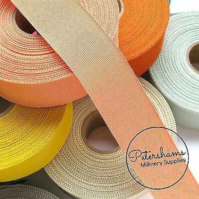 """38mm No.9 Petersham 1.5"""" Wide Hat Ribbon for Millinery & Hat Making 1 yard"""