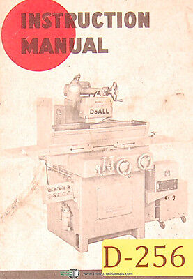 Doall D-6, D-8 and D-10, Surface Grinder Operation Maintenance Manual 1964