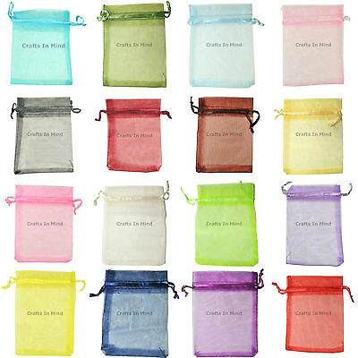 9x12cm ORGANZA Premium Wedding Favour GIFT BAGS | Pouches | Jewellery