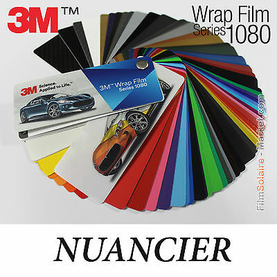 Nuancier 3M Wrap Film series 1080, 82 échantillons Vinyle COVERING samples