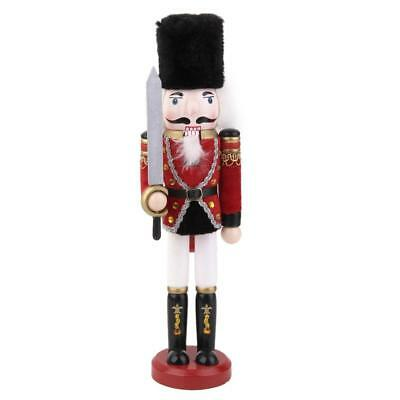 Christmas Nutcracker Soldier Vintage Wooden Nutcracker Doll with Sword