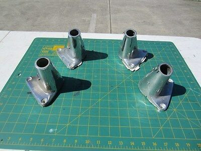 4 x large 'volcano' Stanchion bases - chromed bronze - off 1965 Chris Craft