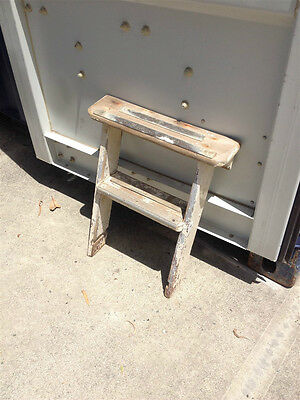 Small Timber companionway ladder / stairs - wooden steps timber boat