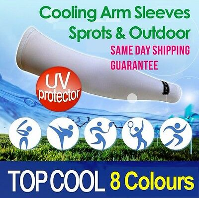 3 Pairs Cooling Sport Outdoors Arm Stretch Sleeves Sun Block UV Protection Cover