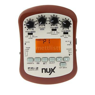 NUX PA-2 Acoustic Guitar Effect Multifunctional Portable New Q49L