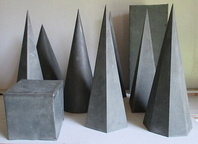 antique geometric shapes  in zinc for school very big size !