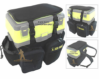 SEA MAX Sea Boat Fishing Seat Box Rucksack Converter Fishing Back Pack Roddarch
