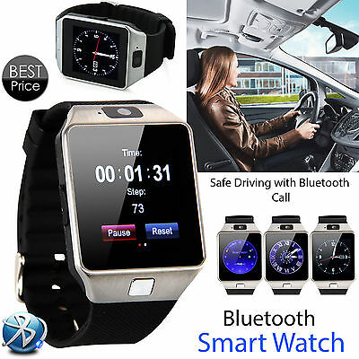 Bluetooth DZ09 Smart Watch For iPhone Android Samsung HTC Camera SIM UK