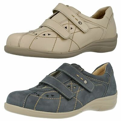 DB EASY B HEALEY LADIES RIPTAPE STRAP LEATHER CASUAL EVERYDAY SMART FLAT SHOES