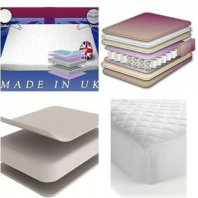 Baby Kids Cot Bed Sprung Quilted Nursery Mattress With & Without Memory Foam