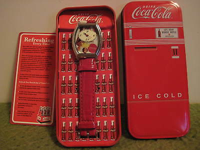 "Vintage Original COCA COLA Quartz Watch Tin 5.5""X2.5""X.75"" Watch 8.75""X1.25"""