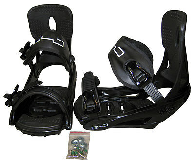 Five Forty Standard Snowboard Bindings Medium Black/White - NEW