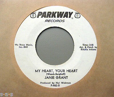 "Janie Grant - My Heart, Your Heart / And That Reminds... PARKWAY 7"" Nothern Soul"