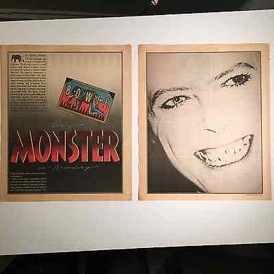 """DAVID BOWIE Original Two 11X13.5"""" clippings from 1980"""