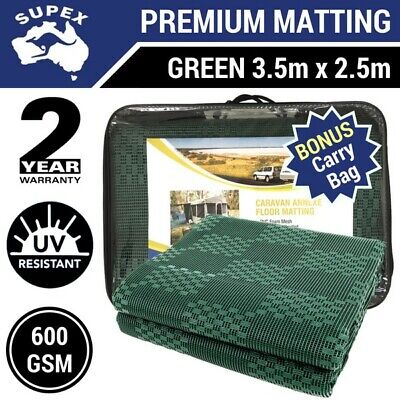 3.5m x 2.5m GREEN Annexe Matting Floor for Jayco Swan & Flamingo Camper Trailer