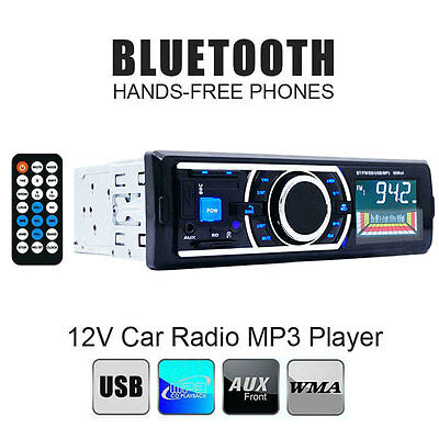 New Bluetooth Car Audio Stereo 1 DIN In-Dash FM Aux Receiver Radio MP3 Player