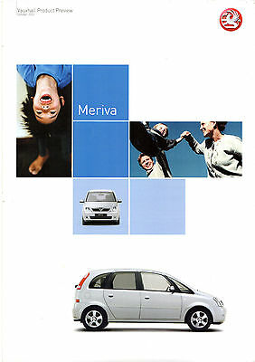 Vauxhall Meriva 2002-2003 UK Market Preview Foldout Sales Brochure
