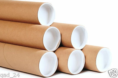 A1 Postal Tubes Strong Cardboard Plastic Caps Poster Quality Extra Strong Size