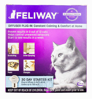 Feliway [NEW] Diffuser Plug-In Starter Kit + 30 Day Refill
