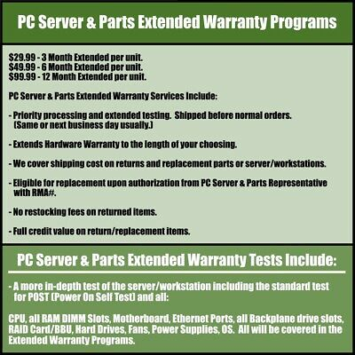 PCSP Extended Warranty Programs for Servers, Workstations, and their Parts