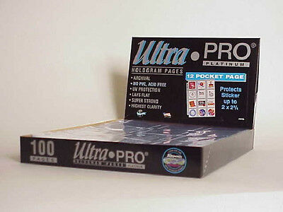 200 ULTRA PRO PLATINUM 12-POCKET Pages 2 1/2 x 2 1/4 Sheets Protectors  New