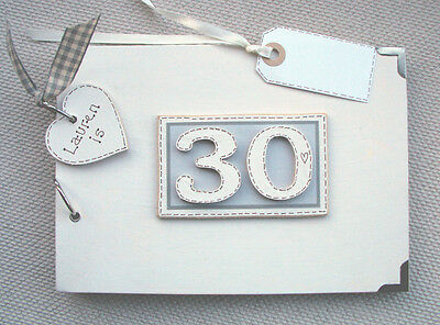 PERSONALISED 30TH birthday .A5  SIZE.  PHOTO ALBUM/SCRAPBOOK/MEMORY BOOK.