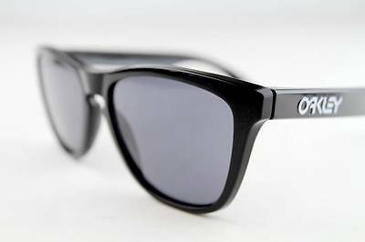 eeb7ecd22840b NEW OAKLEY FROGSKINS Sunglasses Frames Polished Black 24-306 55mm ...