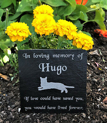 Personalised Engraved Pet Memorial Slate Headstone Grave Marker Plaque Dog. Pets