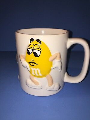 M & M 's 3 D 16 oz Coffee Tea Mug Mars Inc. Cyrk Inc. Red Blue Yellow Characters